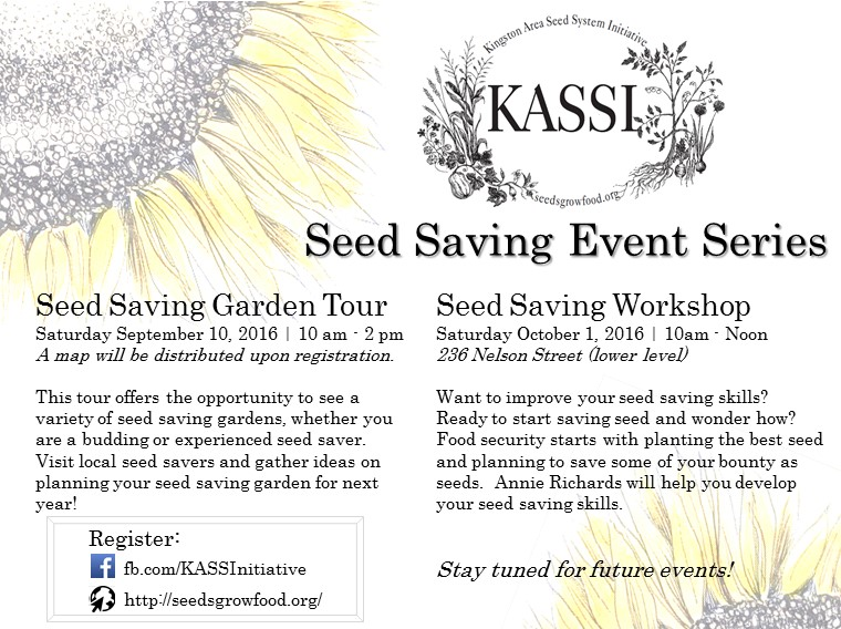 KASSI Garden Tour and Seed Saving Workshop Postcard Final
