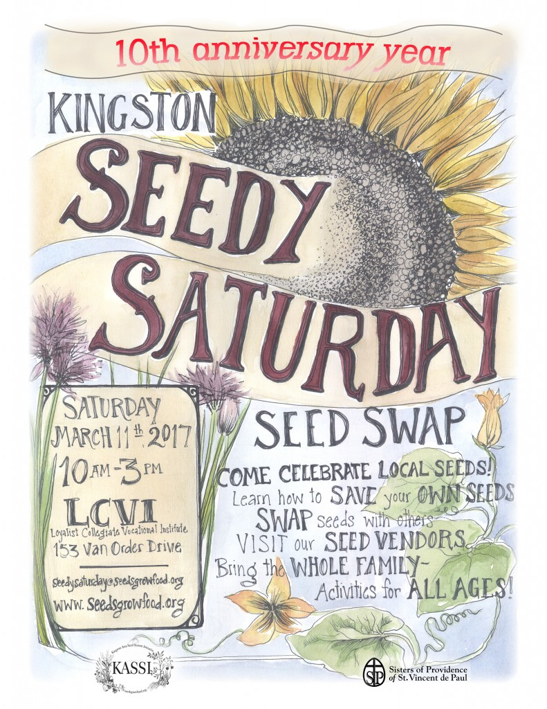 Seedy Saturday 2017 poster 8.5 x 11