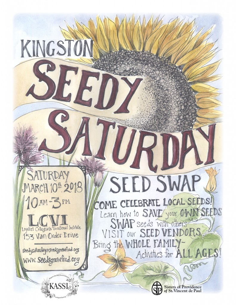 Seedy Saturday 2018 poster 8.5 x 11