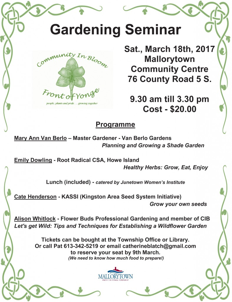 Gardening Seminar 2017
